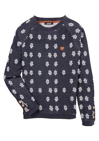 Hangowear Sweatshirt, Damen lässiger Sweater mit All-over Edelweiss Print kaufen