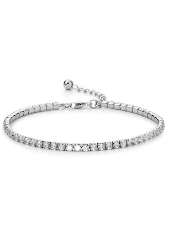 Armband Silberfarben Zirkonia silberfarben rhodiniert 17 - 20 cm verstellbar kaufen