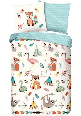 good morning Kinderbettwäsche »Boho«, mit Tieren kaufen