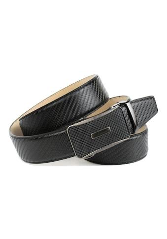 Anthoni Crown Ledergürtel, Trendiger Gürtel in Karbon-Design kaufen