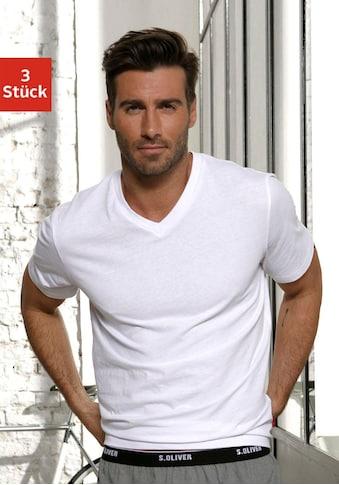 s.Oliver Bodywear V-Shirt, in uni kaufen