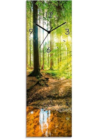 Artland Wanduhr »Wald mit Bach«, lautlos, ohne Tickgeräusche, nicht tickend,... kaufen