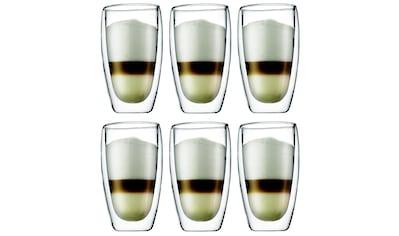 Bodum Latte-Macchiato-Glas »Kaffeeglas Pavina 4.5 dl, 6 Stück, Transparent«, (Set, 6... kaufen