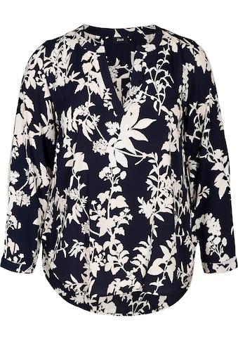 Zizzi Klassische Bluse, mit V-Ausschnitt kaufen