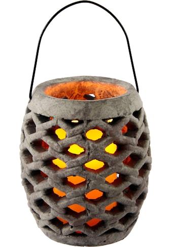 I.GE.A. Laterne »Keramik Windlicht mit LED«, Masse (H): 17 cm kaufen