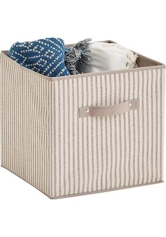 Zeller Present Aufbewahrungsbox »Stripes«, faltbar, Vlies, beige kaufen