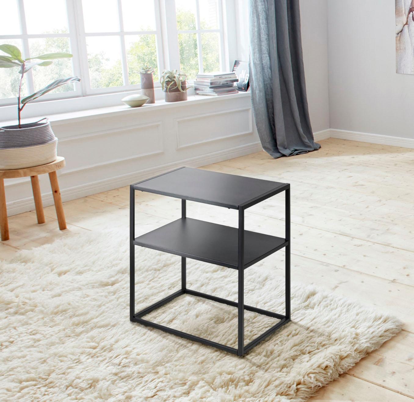 Image of andas Nachttisch »Vilho«, aus einem schönen weissen Metallgestell und einer Ablegemöglichkeit