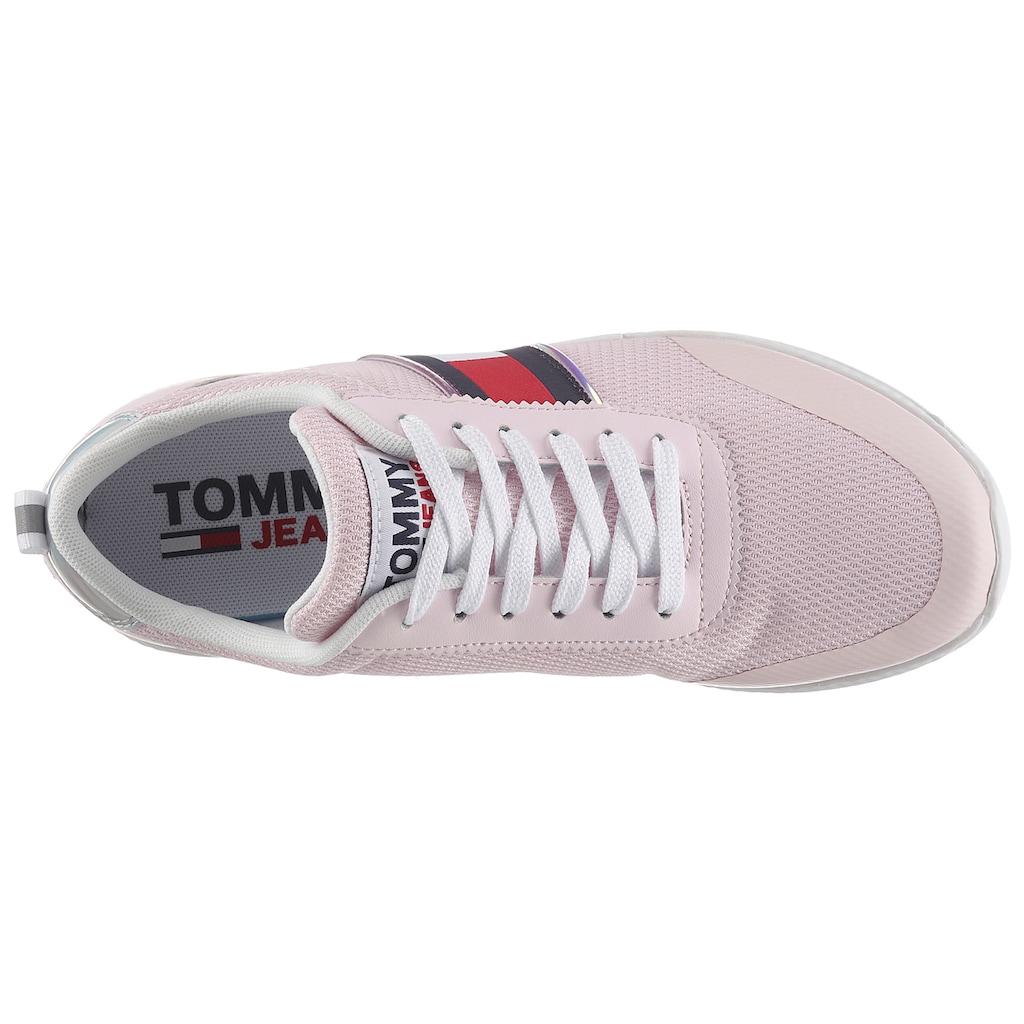 Tommy Jeans Keilsneaker »TECHNICAL FLEXI SNEAKER«, mit Kontrastbesatz an der Ferse