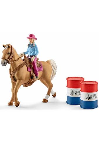 Schleich® Spielfigur »Farm World, Barrel racing mit Cowgirl (41417)«, (Set) kaufen