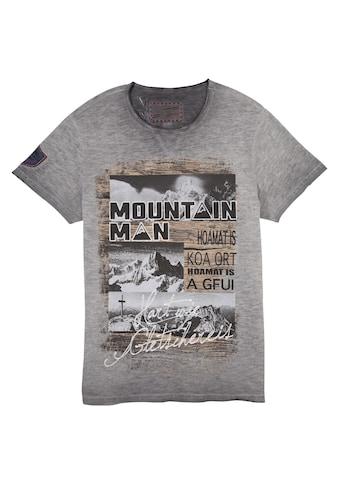 Andreas Gabalier Kollektion Trachtenshirt, Herren mit Berg-Printmotiv kaufen