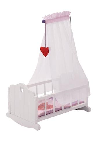 roba® Puppenwiege »Fienchen - Weiss-Lila« kaufen