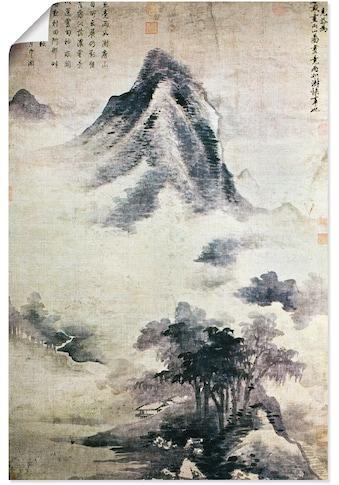 Artland Wandbild »Landschaft nach dem Regen, 13.-14.JH«, Berge, (1 St.), in vielen... kaufen