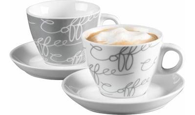 Ritzenhoff & Breker Cappuccinotasse »Cornello Grey«, (Set, 4 tlg.) kaufen