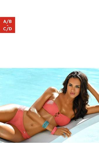 Sunseeker Bandeau-Bikini-Top »Fancy«, mit modischer Zierschnürung kaufen