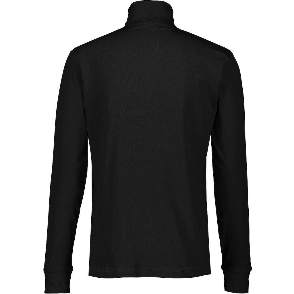 LERROS Rollkragenshirt, mit dezenter Logostickerei auf der Brust