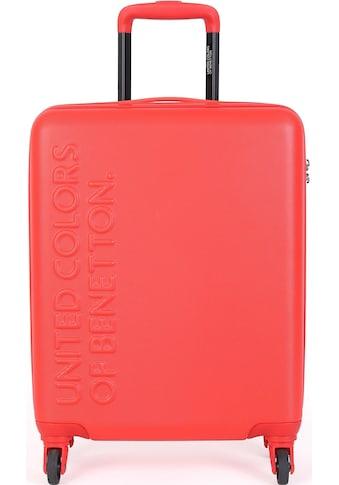 United Colors of Benetton Hartschalen-Trolley »UCB, 55 cm, red«, 4 Rollen kaufen