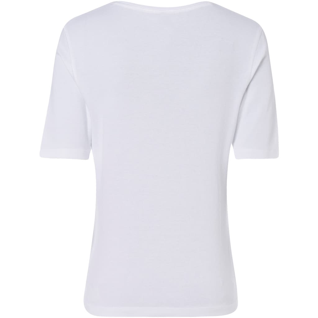 Olsen Rundhalsshirt, aus organic Cotton, mit Front-Print