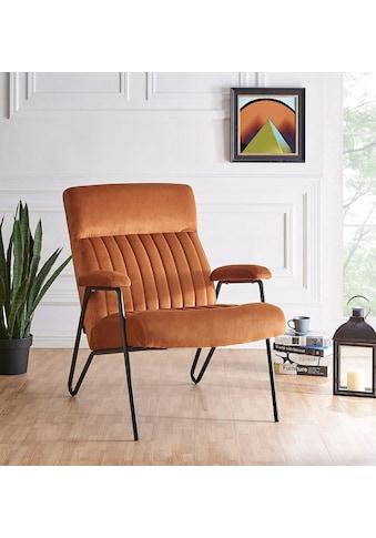 Home affaire Sessel »Tanaro«, mit einem Metallgestell und einem pflegeleichten,... kaufen