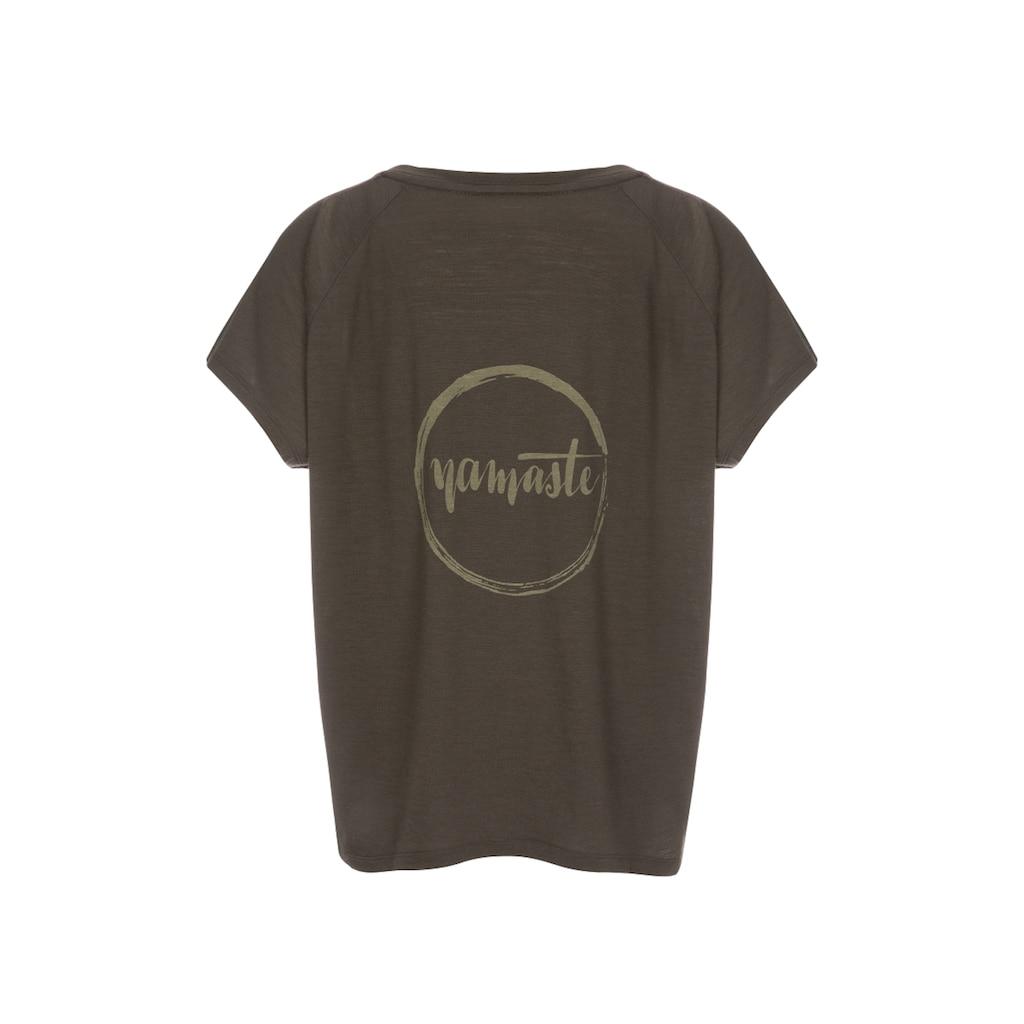 SUPER.NATURAL T-Shirt »W JONSER TEE«, geruchshemmender Merino-Materialmix