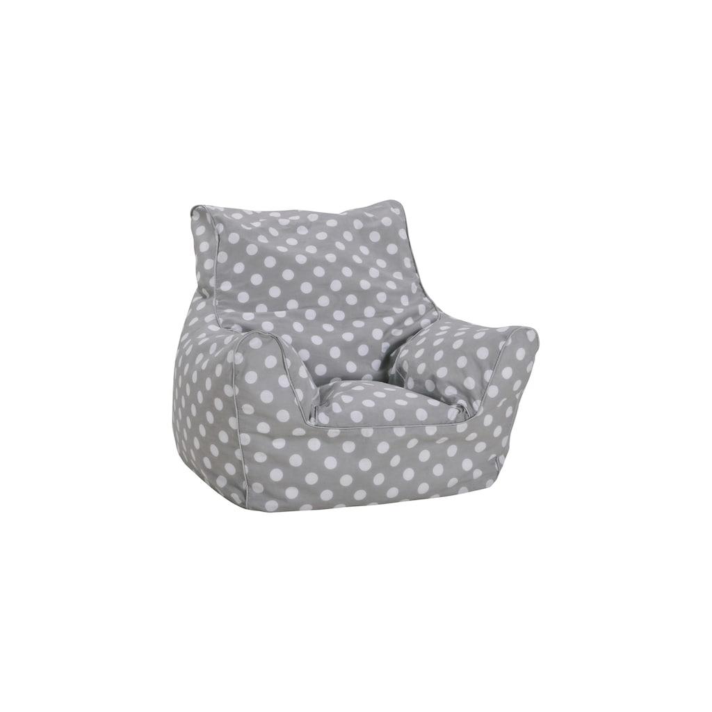 Knorrtoys® Sitzsack »Sitzsack Dots grey«