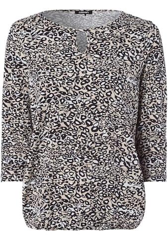 Olsen Print-Shirt, mit Minimal-Print und Gummiband-Saum kaufen