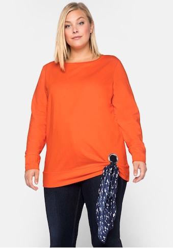 Sheego Sweatshirt, mit maritimen Tuch kaufen