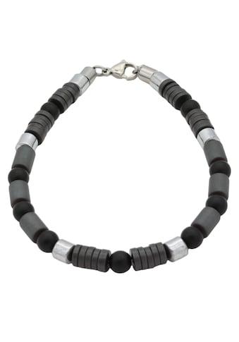 Firetti Armband »Design im Formenmix, matt und glänzend«, mit Onyx und Hämatit, Made... kaufen