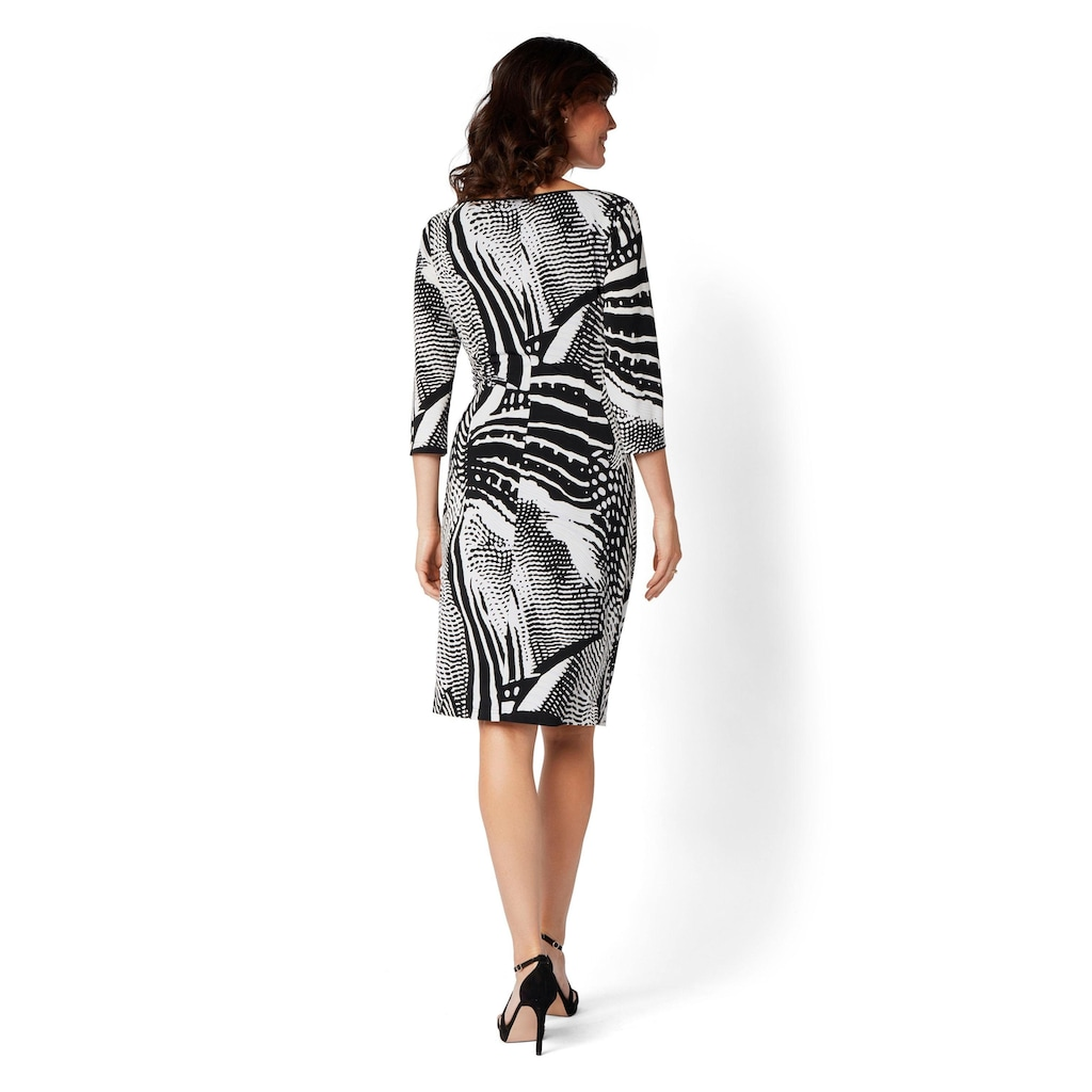 select! By Hermann Lange Jerseykleid, mit Zebra-Muster