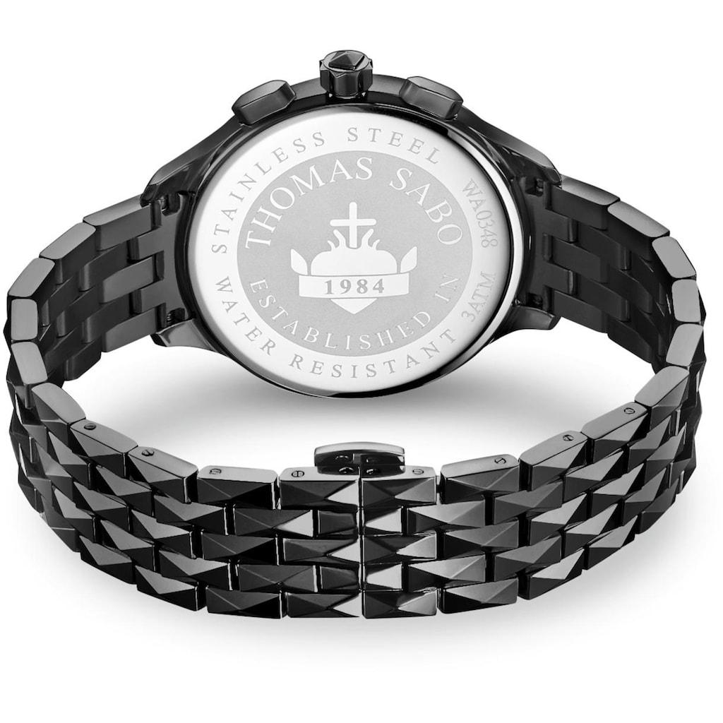 THOMAS SABO Chronograph »REBEL AT HEART, WA0348-202-203-38 mm«