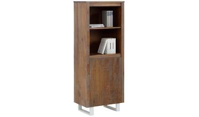 Home affaire Bücherregal »Lagos«, aus schönem massivem Kiefernholz, grifflos, Breite... kaufen