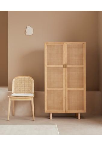LeGer Home by Lena Gercke Highboard »Lina«, Mit Rattan Einsatz, 3 Innenfächer, teilmassiv kaufen
