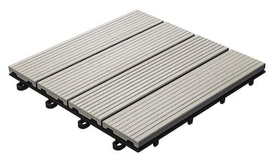 florco® Terrassenplatten »WPC hellgrau 30 x 30, 6 Stk.« kaufen
