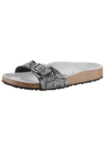Birkenstock Pantolette »MADRID PYTHON«, mit verstellbarer Schnalle, schmale Schuhweite kaufen