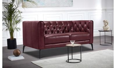 Leonique Chesterfield-Sofa »Namarda«, mit dekorativer Knopfheftung im Rückenteil und... kaufen