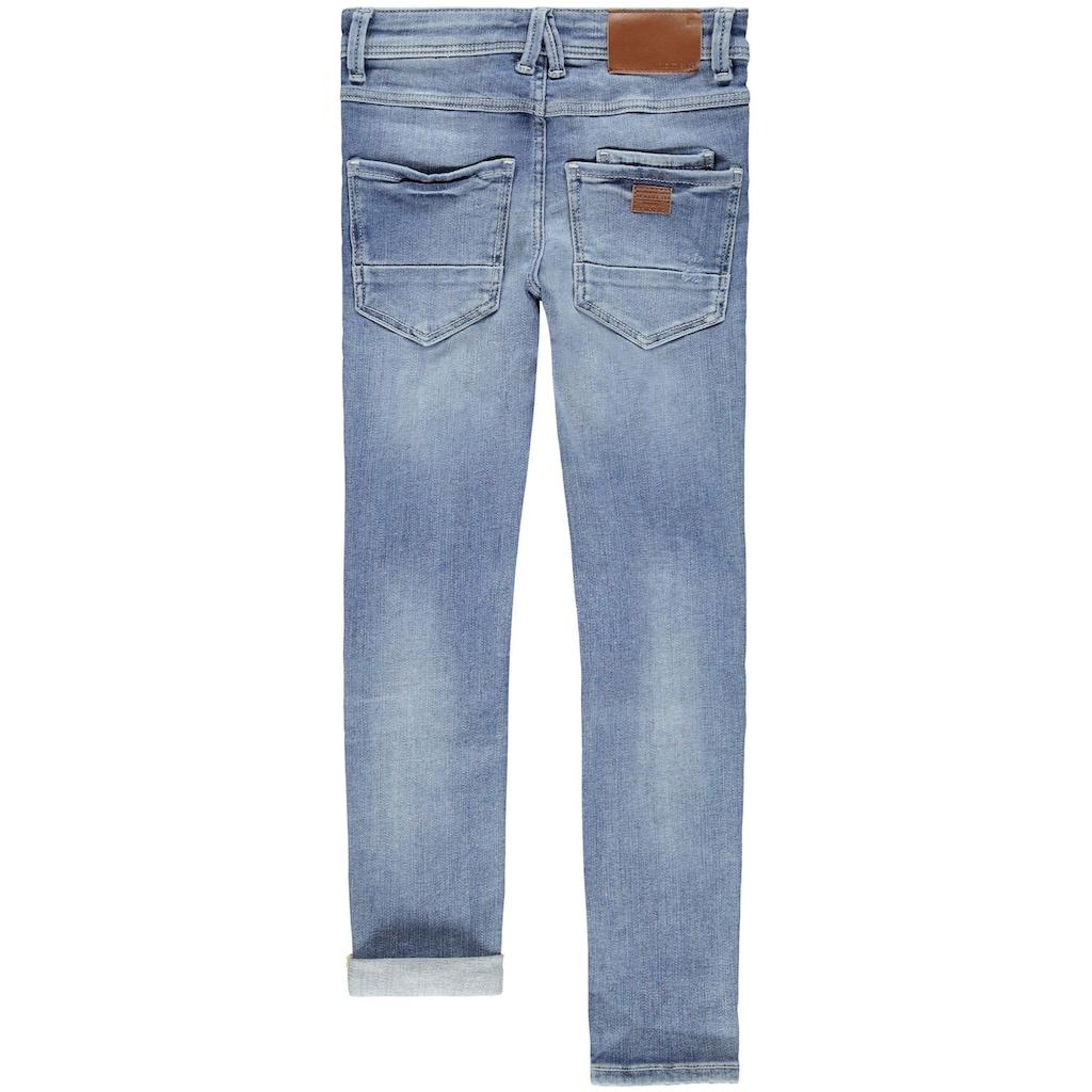 Name It Destroyed-Jeans »PETE«, mit Dekoknöpfen vorn am Schlitz