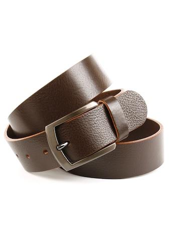 Anthoni Crown Ledergürtel, mit glänzender Dornschliesse kaufen