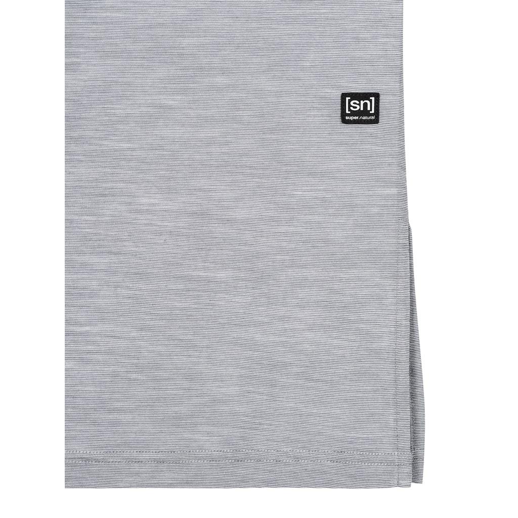 SUPER.NATURAL Sweatkleid »W DRESS BARB«, feinster Merino-Materialmix