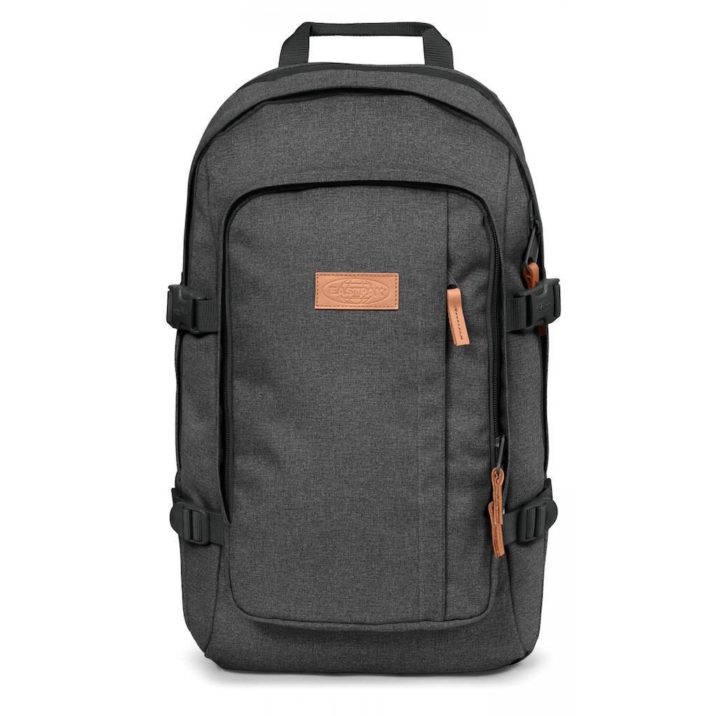 Eastpak Laptoprucksack »EVANZ, Black Denim«, enthält recyceltes Material (Global Recycled Standard)