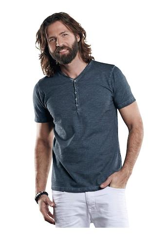 emilio adani Henley T-Shirt mit spannendem Farbeffekt kaufen