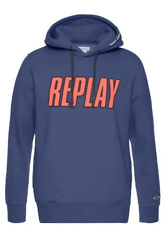 Replay Kapuzensweatshirt, mit grossen Frontprint kaufen