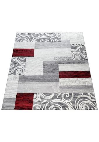 Paco Home Teppich »Sinai 053«, rechteckig, 9 mm Höhe, karierter Kurzflor mit Ornamenten, Wohnzimmer, Kundenliebling mit 4,5 Sterne-Bewertung! kaufen