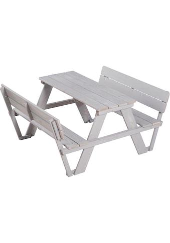 roba® Kindersitzgruppe »Picknick for 4 Outdoor Deluxe, Grau« (Set, 1 - tlg) kaufen
