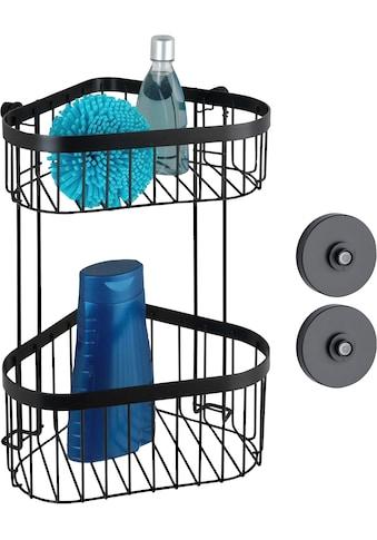 WENKO Eckregal »Vacuum-Loc® Classic Plus Black«, (1 St.), Befestigung ohne Bohren kaufen