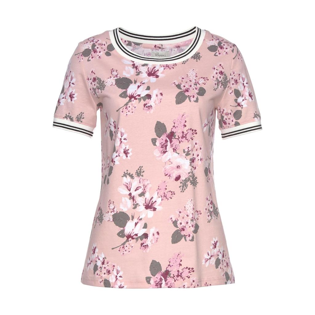 Boysen's Print-Shirt, mit Kontrast-Bündchen