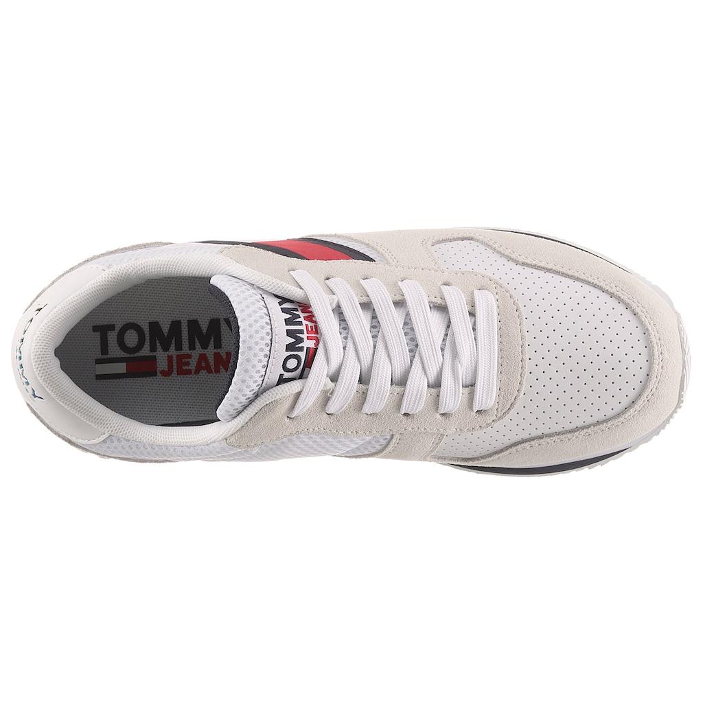 TOMMY JEANS Keilsneaker »TOMMY JEANS FLATFORM RUNNER«, in typischer Tommy Optik