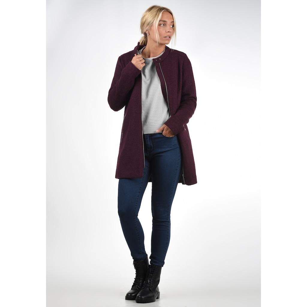 Blendshe Wollmantel »Wilma«, Mantel aus warmer Boucle-Qualität