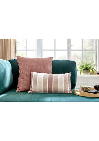 COUCH♥ Kissenhüllen »Knautschkumpel«, (2 St., 30x50cm-50x50cm), mit Streifen und unifarben, Couch Lieblingsstücke kaufen