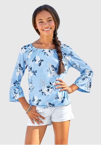 Arizona 3/4-Arm-Shirt, mit hübschem Blumendruck kaufen