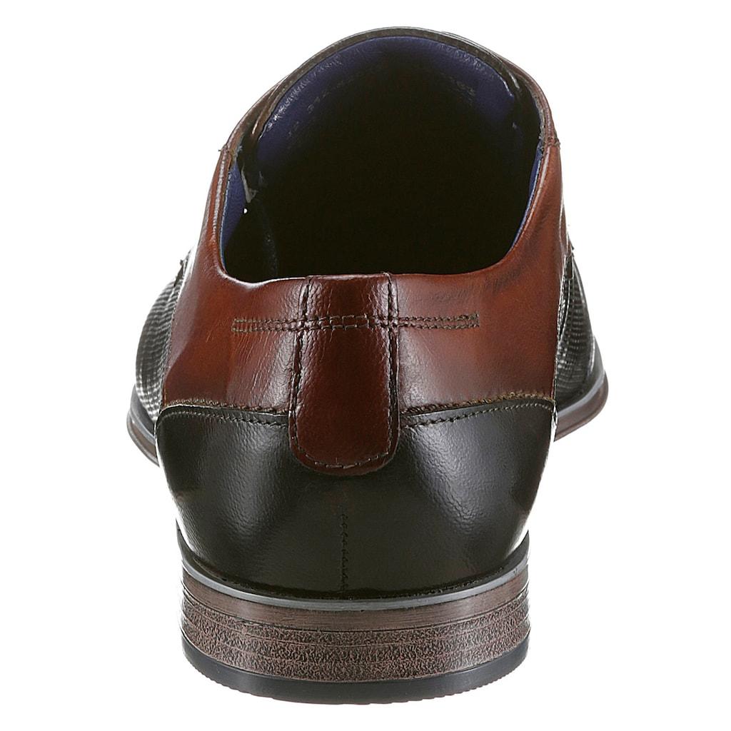 bugatti Schnürschuh »Morino«, mit dezenter Strukturierung