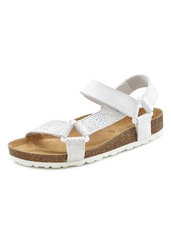 LASCANA Sandale, mit Korkfussbett und Klettverschluss kaufen